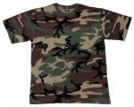 Детская футболка милитари с коротким рукавом, woodland.